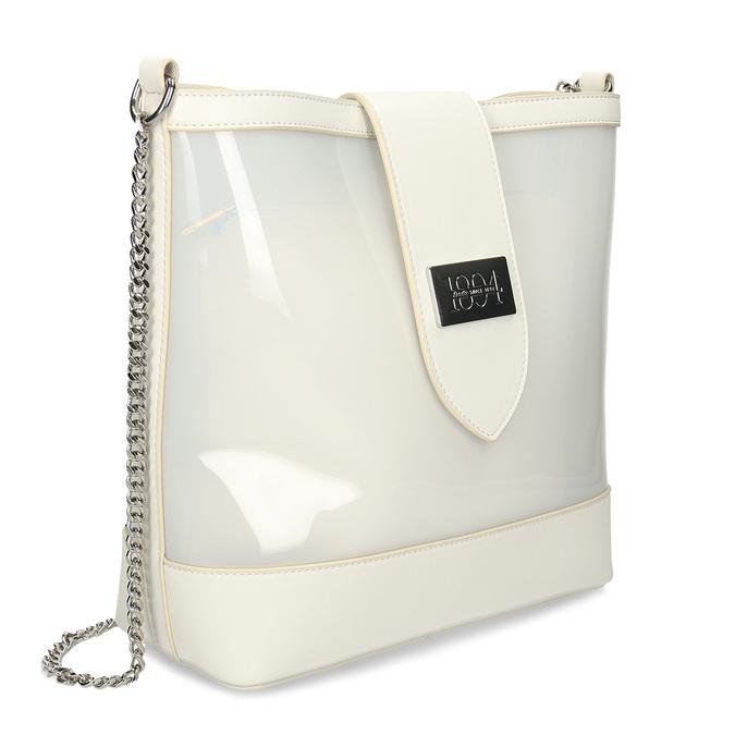 Bílá dámská kabelka přes rameno bata, bílá, 961-1601 - 13