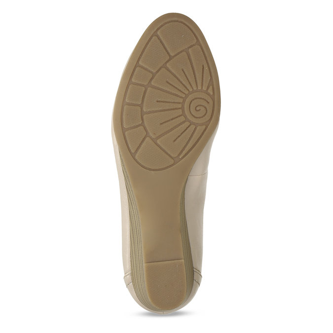 Béžové dámské lodičky na klínku bata, béžová, 621-8600 - 18