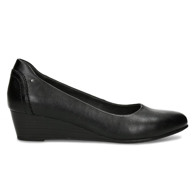 Černé dámské lodičky na klínku bata, černá, 621-6600 - 19