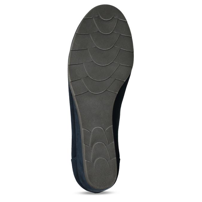 Modré lodičky na klínku bata, modrá, 629-9603 - 18