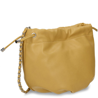 Žlutá dámská kabelka s řetízkovým uchem bata, žlutá, 961-8776 - 13
