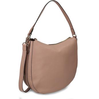 Béžová kožená kabelka střední velikosti bata, béžová, 964-8615 - 13