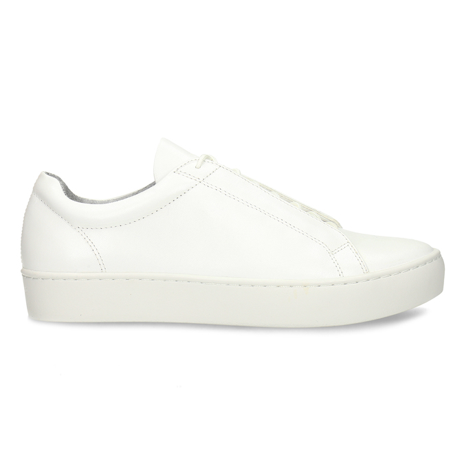 Bílé kožené dámské tenisky vagabond, bílá, 544-1618 - 19