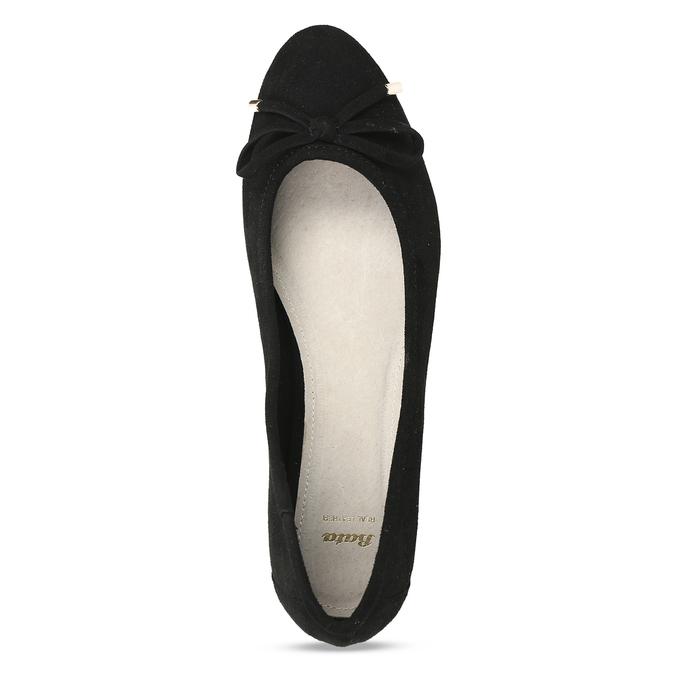 Černé baleríny s ostrou špicí bata, černá, 529-6607 - 17
