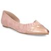 Růžové dámské baleríny s asymetrickým střihem bata, růžová, 529-8603 - 13