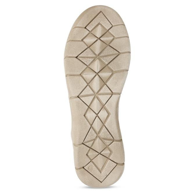 Béžové celokožené dámské tenisky s perforací weinbrenner, béžová, 543-3603 - 18