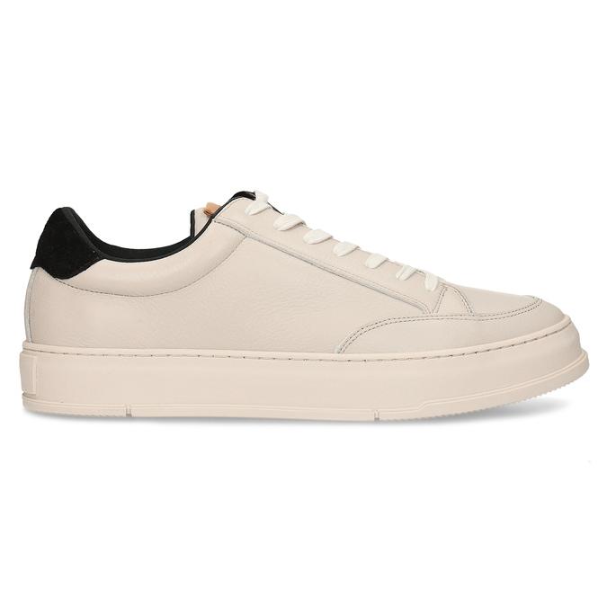 Bílé kožené pánské městské tenisky vagabond, bílá, 844-1604 - 19