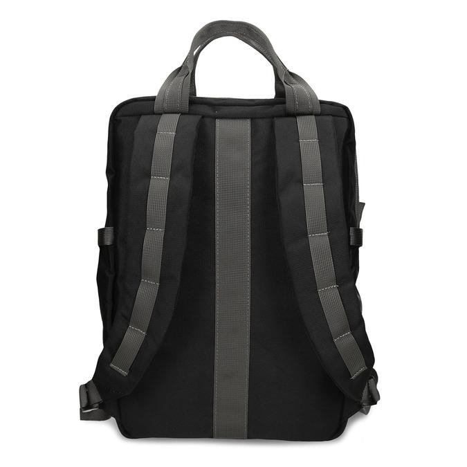 Černý městský unisex batoh bata, černá, 969-6312 - 16