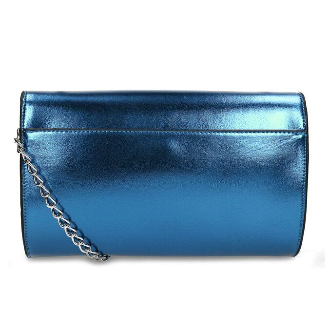 Modrá dámská metalická kabelka bata, modrá, 961-9643 - 16