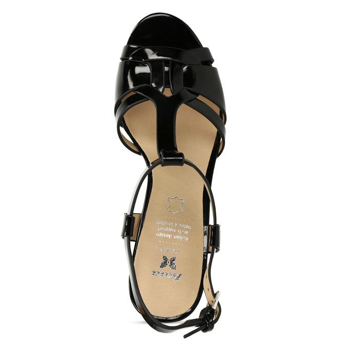 Černá dámská obuv s koženou stélkou na vysokém podpatku bata, černá, 751-6600 - 17