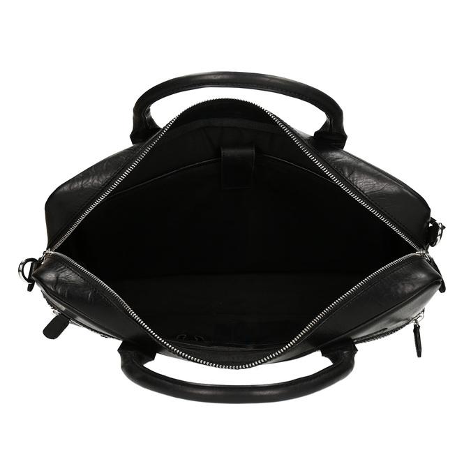 Kožená pánská černá taška na notebook bata, černá, 964-6650 - 15