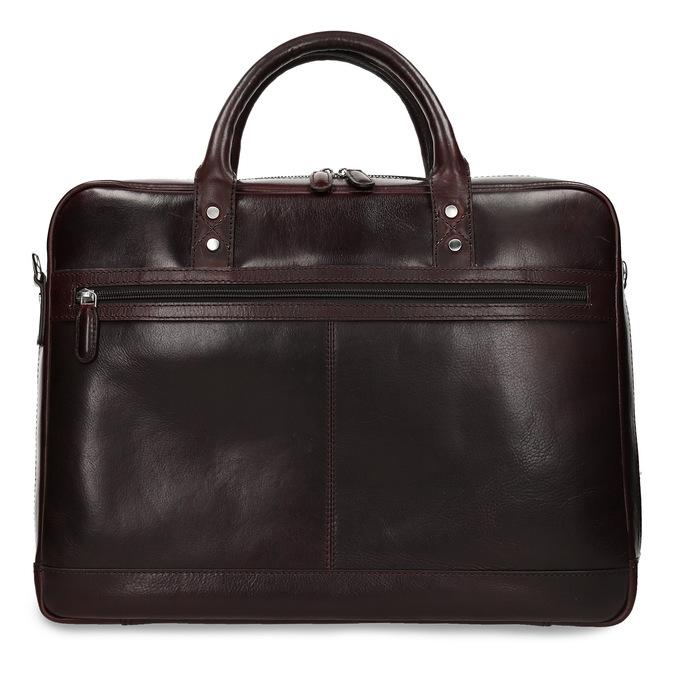Kožená pánská taška na notebook bata, hnědá, 964-4650 - 26