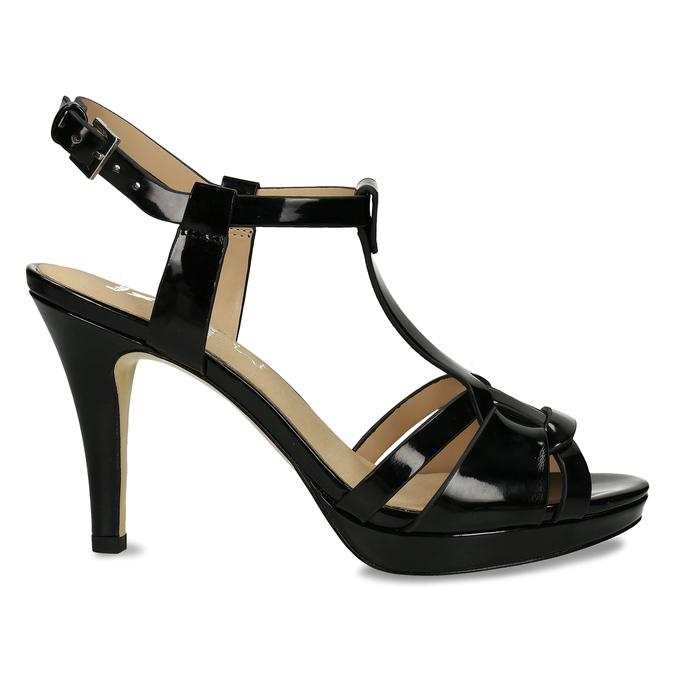 Černá dámská obuv s koženou stélkou na vysokém podpatku bata, černá, 751-6600 - 19