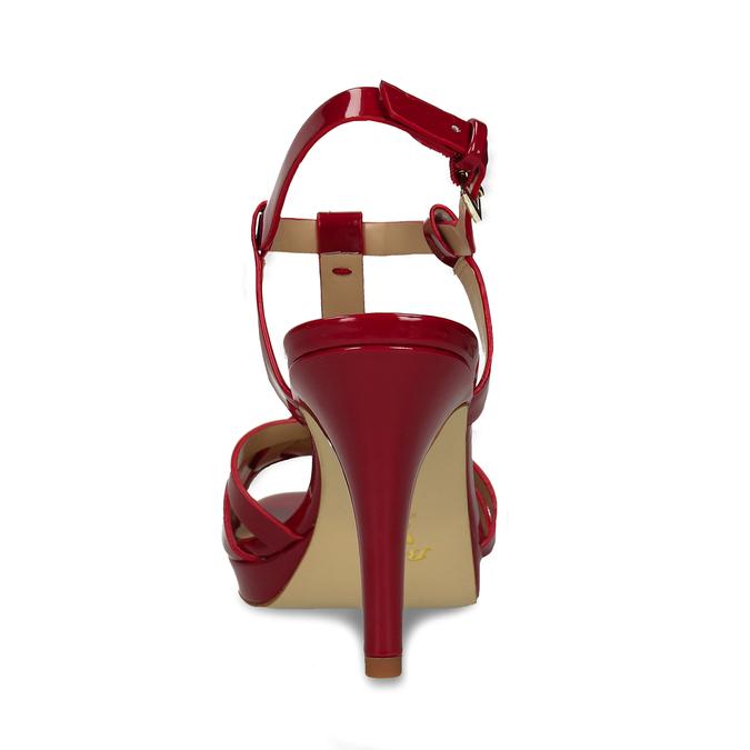 Červená dámská obuv s koženou stélkou na vysokém podpatku bata, červená, 751-5600 - 15