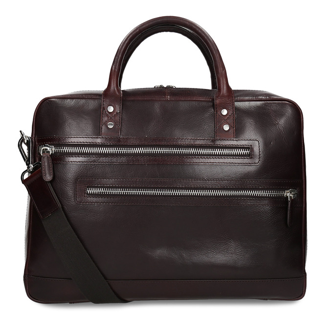 Kožená pánská taška na notebook bata, hnědá, 964-4650 - 16