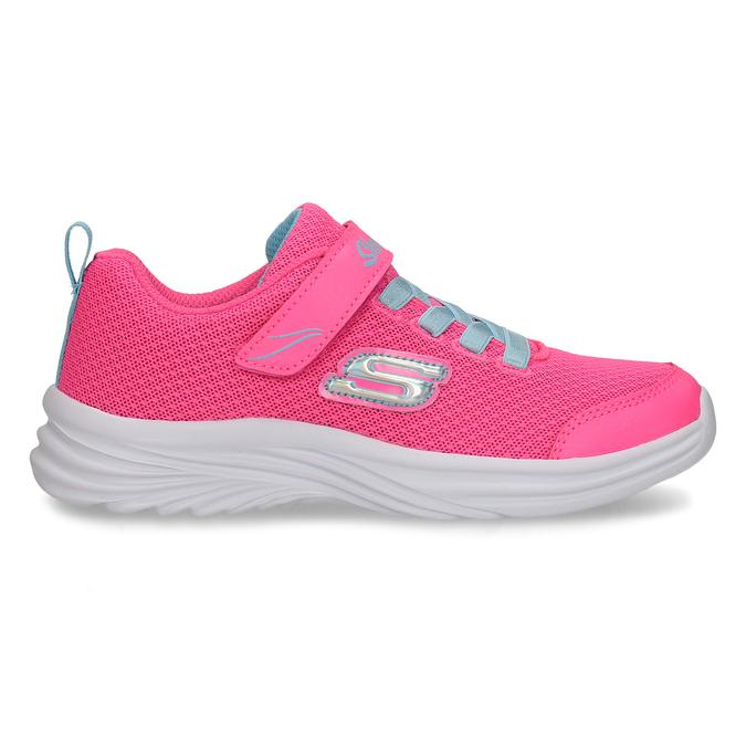 Růžové dětské tenisky s modrými prvky skechers, růžová, 309-5615 - 19