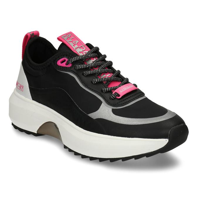 Černé dámské městské sneakersky napapijri, černá, 549-6621 - 13