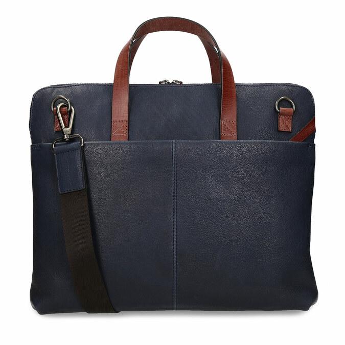 Modrá pánská kožená taška na notebook bata, modrá, 964-9652 - 16