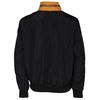 Černá pánská sportovní bunda s oranžovým a bílým pruhem bata, černá, 979-6596 - 26