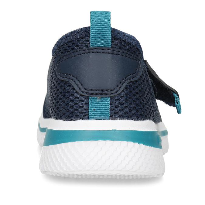 Modré dětské tenisky na suchý zip bubblegummers, modrá, 319-9324 - 15