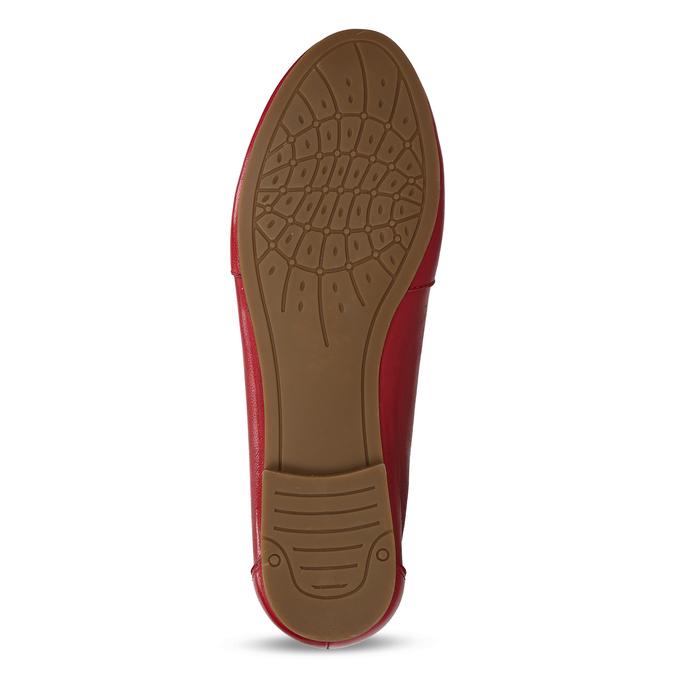 Červené dámské kožené mokasíny bata, červená, 514-5600 - 18