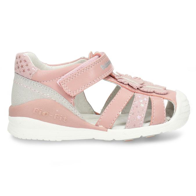 Růžové dívčí sandály s motýlky bubblegummers, růžová, 161-5602 - 19