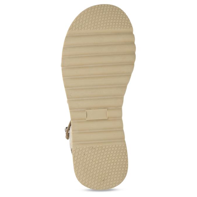 Béžové dívčí páskové sandály mini-b, béžová, 361-8600 - 18