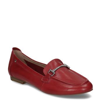 Červené dámské kožené mokasíny bata, červená, 514-5600 - 13