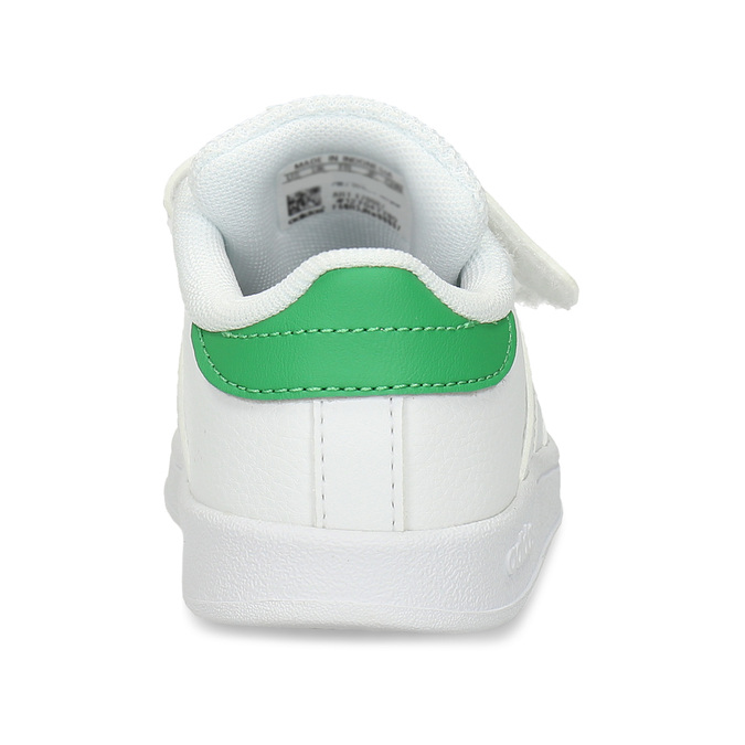 Bílé dětské tenisky se zelenými prvky adidas, bílá, 101-1731 - 15