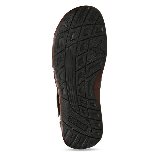 Hnědé pánské kožené sandály pikolinos, hnědá, 864-4612 - 18