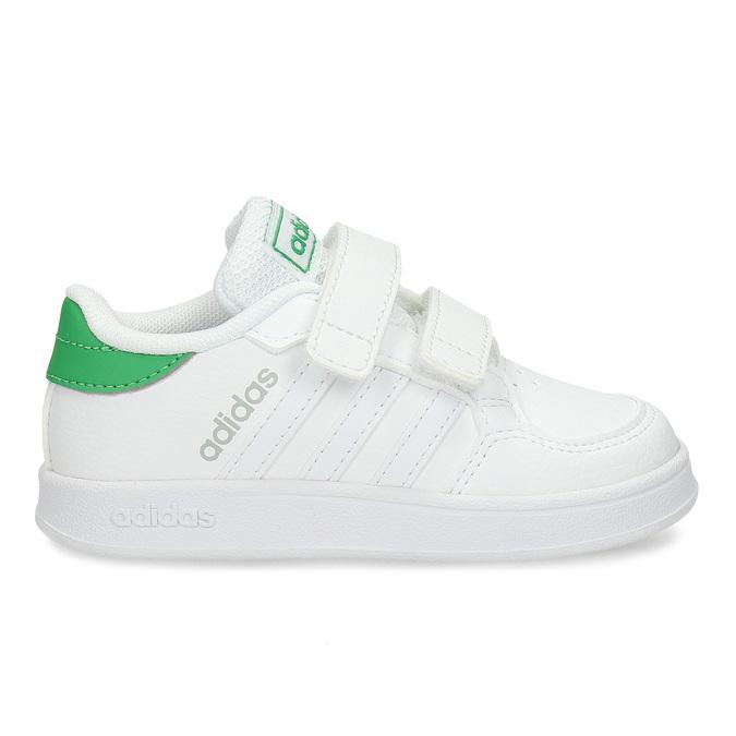 Bílé dětské tenisky se zelenými prvky adidas, bílá, 101-1731 - 19