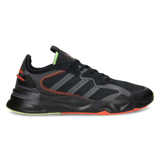 Černé pánské sportovní tenisky adidas, černá, 809-6164 - 19
