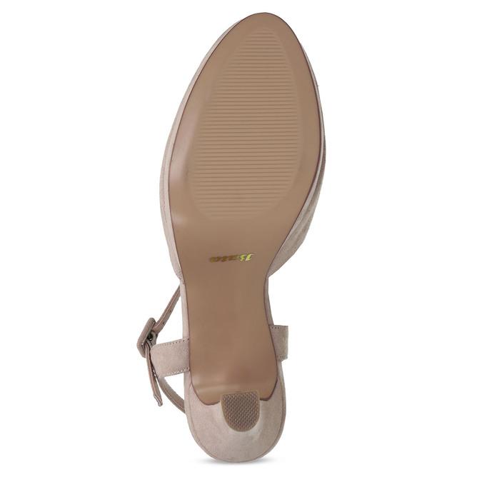 Béžové dámské lodičky na vysokém podpatku bata, béžová, 729-8602 - 18