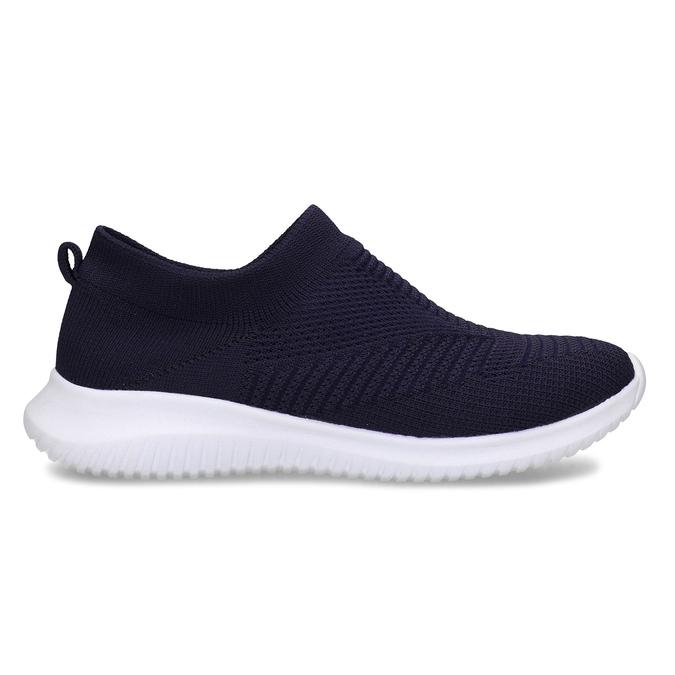 Tmavě modré dámské Slip-on tenisky bata-light, modrá, 529-9605 - 19