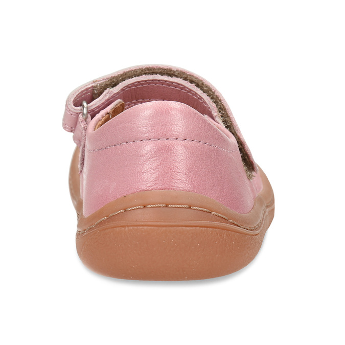 Růžové dětské kožené sandály s uzavřenou špičkou froddo, růžová, 224-5612 - 15