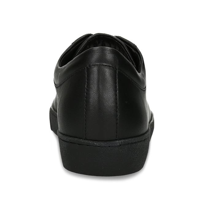 Černé kožené dámské tenisky hogl, černá, 544-6606 - 15