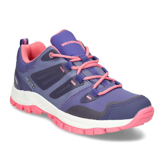 Fialové dětské sportovní sneakersky s růžovou podešví weinbrenner, fialová, 429-9624 - 13