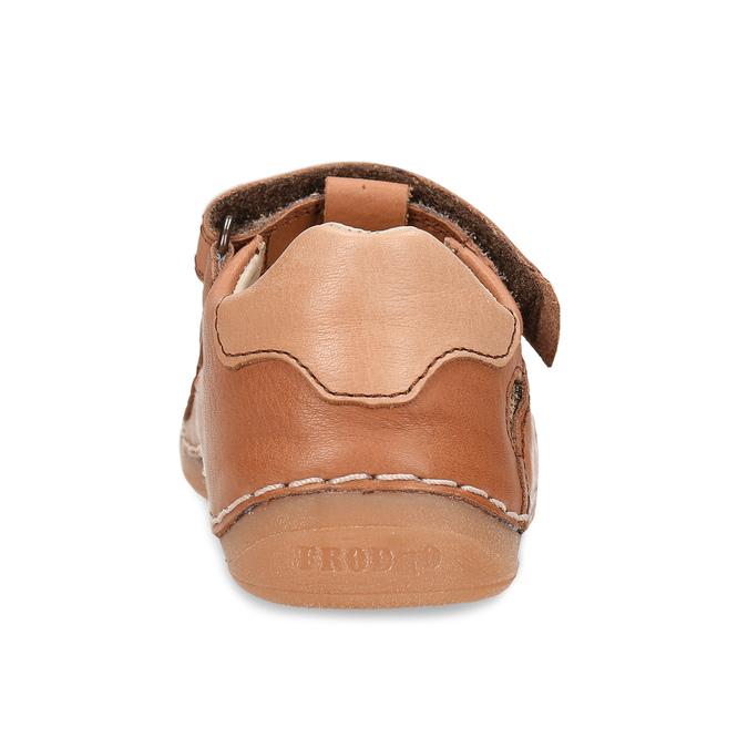 Hnědé dětské kožené sandály s uzavřenou špičkou froddo, hnědá, 164-4604 - 15