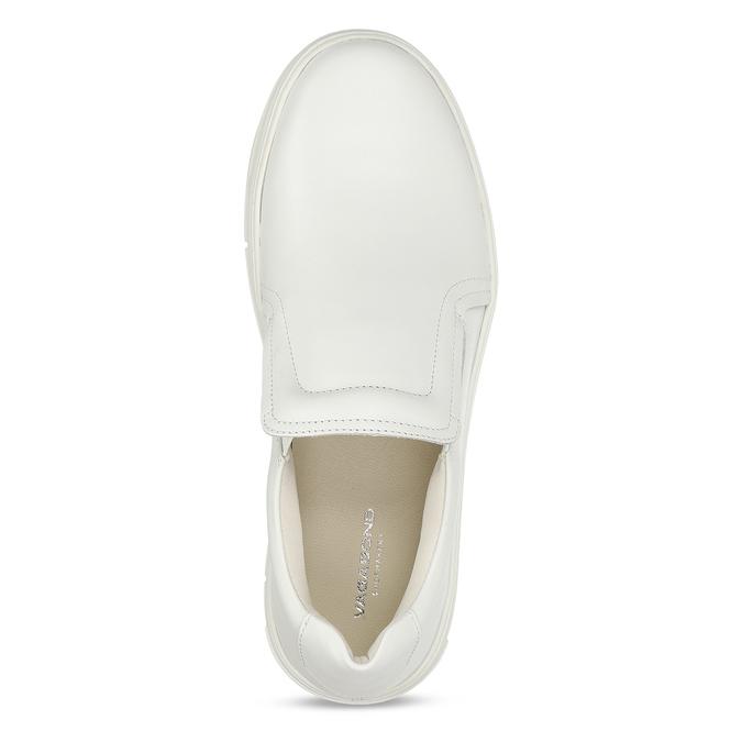 Bílé kožené dámské slip-on tenisky vagabond, bílá, 544-1616 - 17