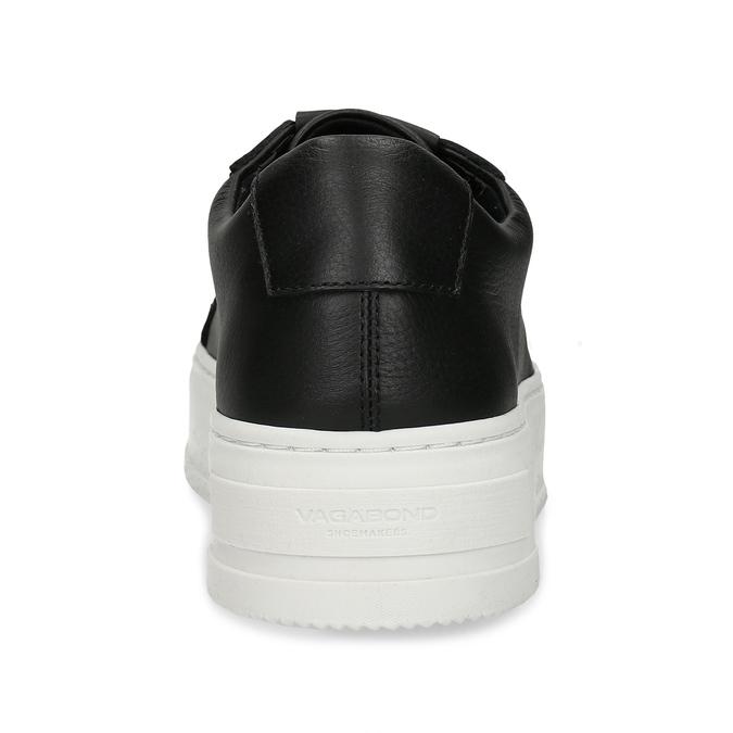 Černé kožené dámské tenisky vagabond, černá, 544-6624 - 15