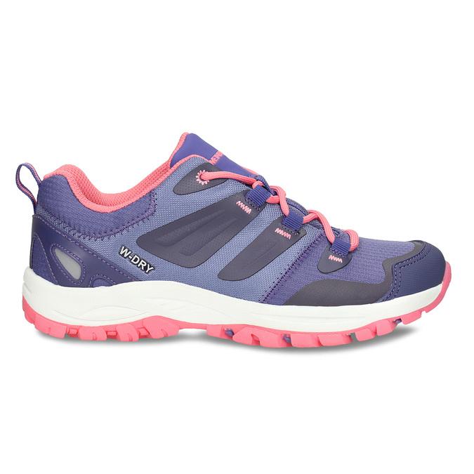 Fialové dětské sportovní sneakersky s růžovou podešví weinbrenner, fialová, 429-9624 - 19