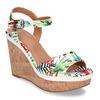 Dámské sandály na platformě bata, bílá, 759-1606 - 13