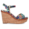 Barevné dámské sandály na platformě bata, modrá, 759-9606 - 19