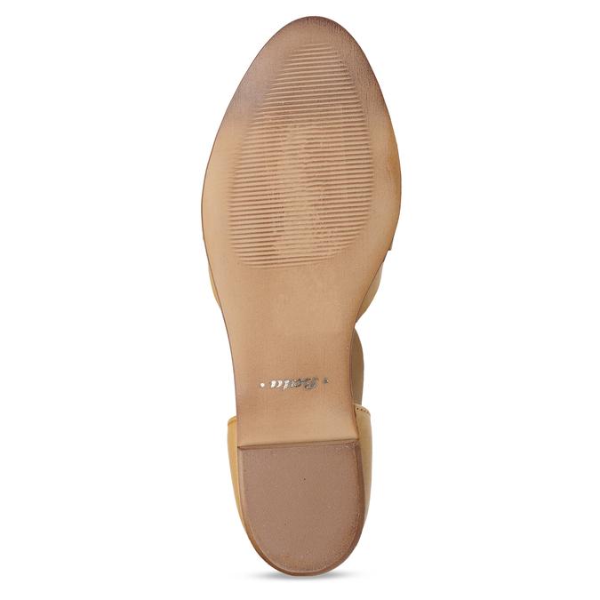 Hořčicové dámské kožené sandály bata, žlutá, 524-8610 - 18
