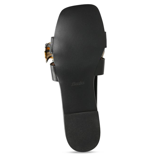 Černé dámské pantofle s barevnou mašlí bata, černá, 559-6600 - 18