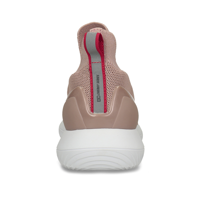 Růžové dámské slip-on tenisky bata-3d-energy, růžová, 539-5602 - 26