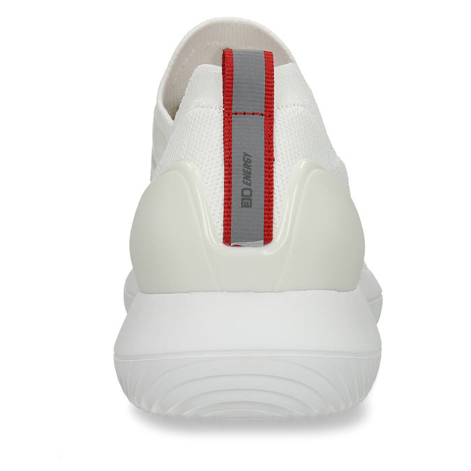 Bílo-stříbrná dámské sportovní tenisky bata-3d-energy, bílá, 549-1609 - 26