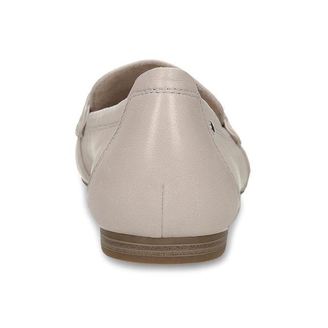 Béžové dámské kožené mokasíny bata, růžová, 514-8600 - 15