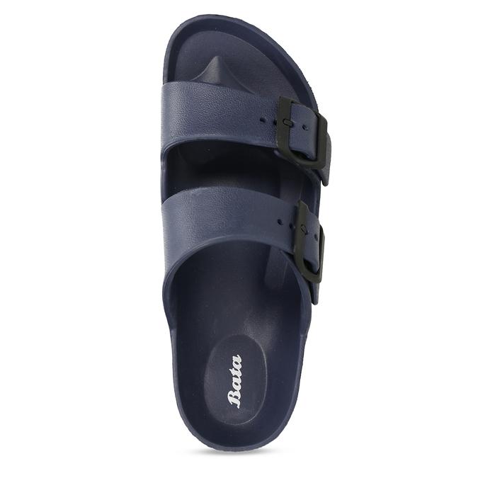 Modré pánské pantofle bata, modrá, 872-9600 - 17