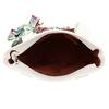 Bílá dámská kabelka střední velikosti s hnědými prvky bata, bílá, 961-0502 - 15